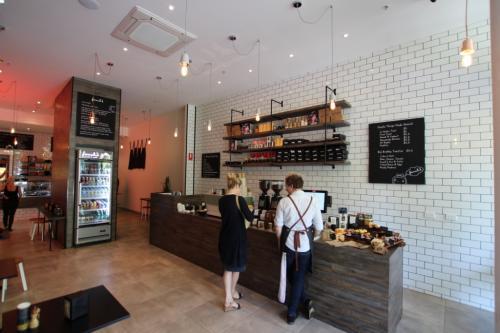 modern cafe interior design Melbourne